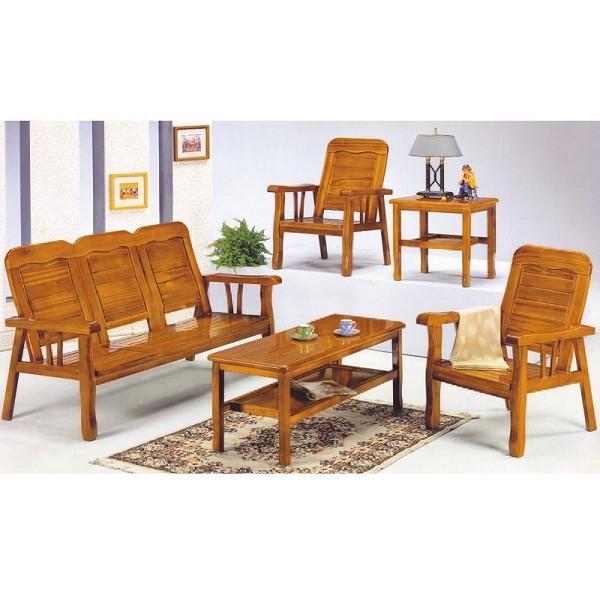 沙發 PK-306-4 313型柚木組椅(含茶几)【大眾家居舘】