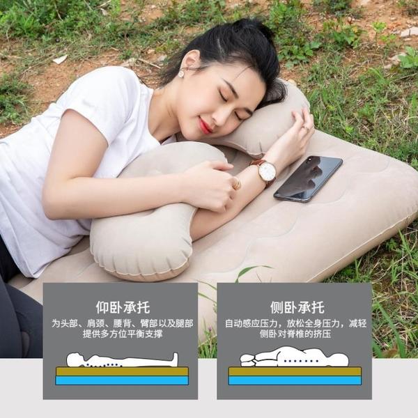 多功能汽車車載床帶護頭檔充氣床旅行車中床充氣床 【快速出貨】