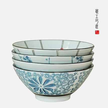 瓷工巧匠.日韓式創意米飯碗套裝(一組4個)