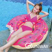 【24H】歐美 渡假 泳圈 充氣 草莓 巧克力 甜甜圈 游泳圈 水上座椅 造型泳圈 拍照道具 海灘 充氣