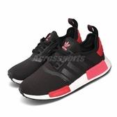 adidas 休閒鞋 NMD_R1 W 黑 紅 女鞋 boost 襪套式 運動鞋 【PUMP306】 EH0206