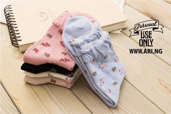 襪子【FSW026】小碎花蕾絲泡泡中筒襪 SORT