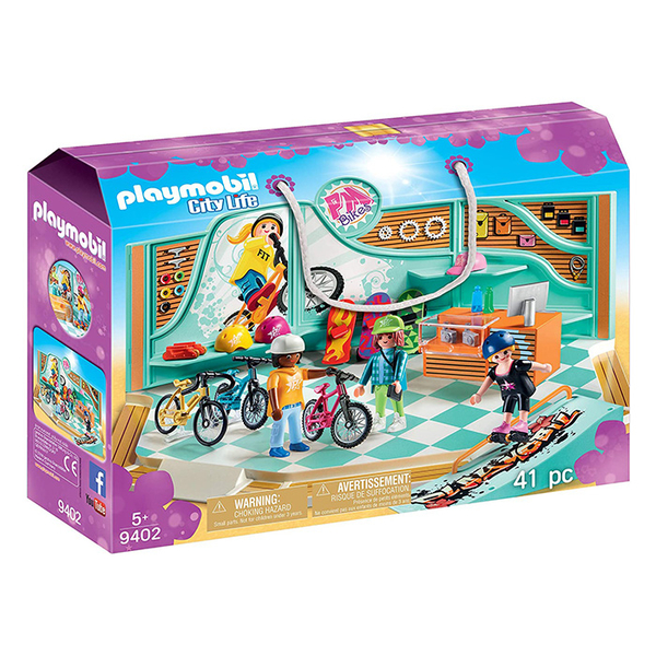 Playmobil 摩比 CITY 9402 購物趣 自行車和滑板店 【鯊玩具Toy Shark】