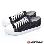 AIRWALK(男) - 復古圓頭低筒基本款帆布鞋 - 本來黑