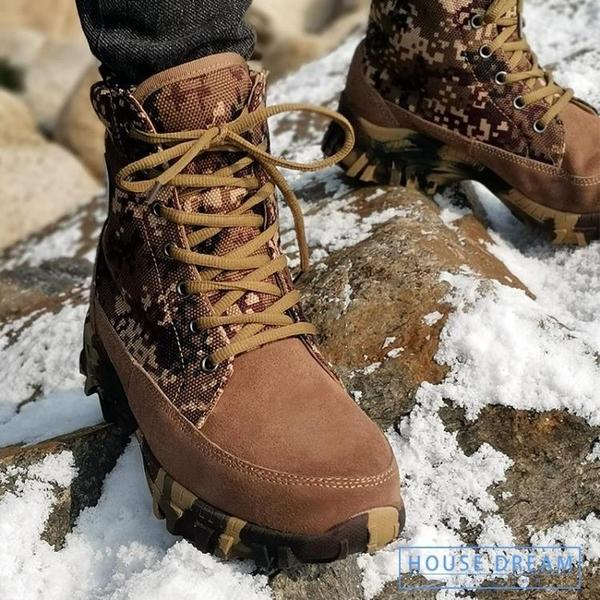 雪地靴男 雪地靴男皮毛一體真皮羊毛冬季保暖加厚防水防滑男士戶外棉靴