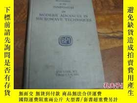 二手書博民逛書店罕見微波技術的近代進展英文版精裝9837 SPONSORED 出
