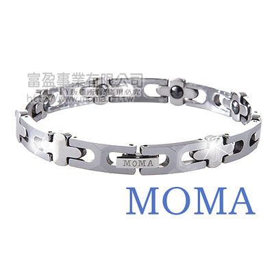 【MOMA】鎢鋼鍺磁手鍊十字窄版-M85L