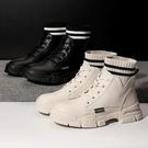 短靴 馬丁靴女夏季薄款年百搭英倫風透氣女鞋厚底內增高短靴子 晶彩 99免運