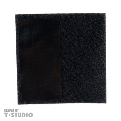 【T-STUDIO】 薄型靜音粘貼補充包(黑)