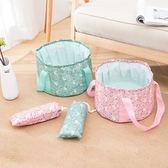 ✭慢思行✭【B61】便攜式可折疊水桶包(大號16L) 印花 旅行洗衣服 泡腳袋 洗衣盆 旅遊 收納包