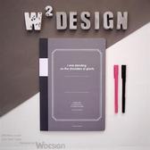 思考手札-方眼筆記本A4 /黑【W2Design】
