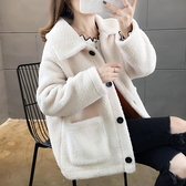 快速出貨 外套羊羔毛絨外套女韓版寬鬆短款加絨加厚立領開衫ins潮【2021新年鉅惠】