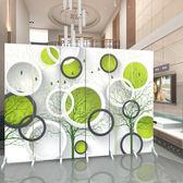 歐式屏風隔斷客廳時尚簡約現代布藝玄關臥室房間簡易折疊行動折屏xw