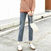 爆款牛仔褲女直筒寬鬆秋裝2021年新款潮寬管褲子ins顯瘦高腰九分 秋季新品