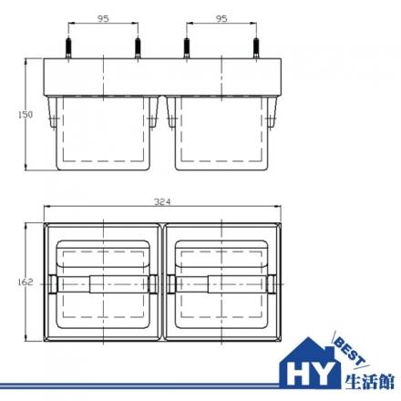 HCG 和成 BF3810 附蓋式雙座衛生紙架 -《HY生活館》水電材料專賣店
