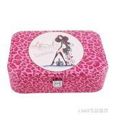 首飾盒 項錬耳釘化妝皮革韓版公主簡約首飾盒歐式珠寶飾品手飾手錶收納盒 1995生活雜貨