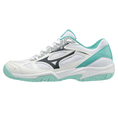 MIZUNO CYCLONE SPEED 女鞋 羽球 排球 輕量 透氣 白 粉綠 【運動世界】 V1GC198013