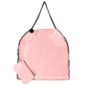 Stella McCartney Falabella 粉色鏈帶包(大/附萬用包) 1230047-05