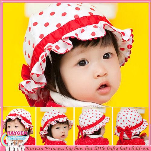 帽子 嬰兒 點點 遮陽帽 嬰兒帽 漁夫帽