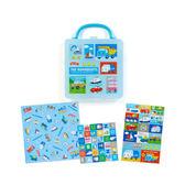 Sanrio 汽車宇宙盒裝便條色紙組方格~funbox  用品~_338061