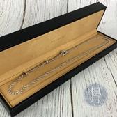 BRAND楓月 BVLGARI 寶格麗 K18 白金 三點素項鍊 23.09G 水滴 鍊條 首飾 墜飾 墜鍊 飾品 配件