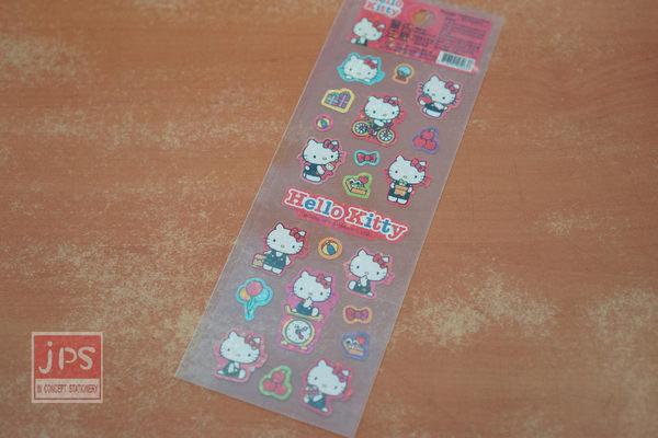 Hello Kitty 新一代 新潮貼紙 腳踏車紅