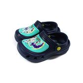 精靈寶可夢 Pokemon 花園鞋 涼鞋 童鞋 深藍/粉綠 中童 PA1748 no889