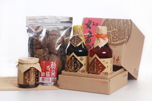 【黑豆桑】金旺健康禮盒組(黑金1+鳳梨淳1+黑豆豉1+冬菇1)