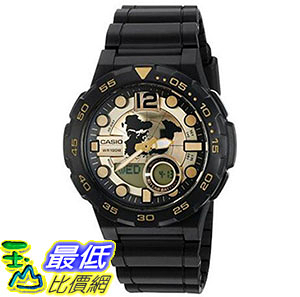 [美國直購] 手錶 Casio Mens 3D Dial Quartz Resin Automatic Watch, Color:Black AEQ100BW-9AV