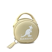 KANGOL 側背包 圓型包 手提 卡其色 6055301131 noC19
