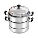 蒸籠/蒸鍋 不銹鋼蒸鍋三層多1層加厚火鍋 jy湯鍋具蒸格蒸籠3層二2層電磁爐家用【快速出貨】