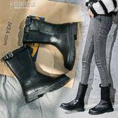 馬丁靴女短靴英倫風騎士靴百搭平底中筒靴 奈斯女裝