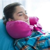 U型枕 肩頸-辦公室多用途便攜好收納粒子居家護頸枕頭8色73o5[時尚巴黎]