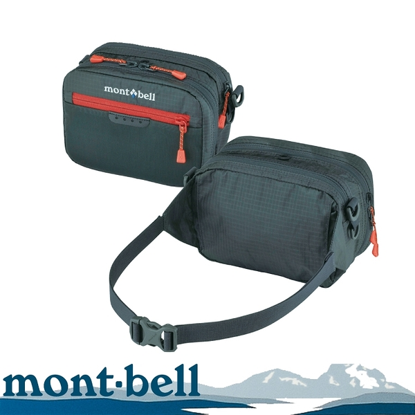 【Mont-Bell 日本 TACKLE POUCH S 腰包《灰》】1126175/防竊腰包/登山臀包/漁具袋
