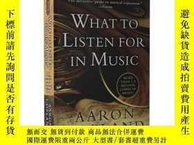 二手書博民逛書店如何欣賞音樂罕見英文原版 What to Listen for