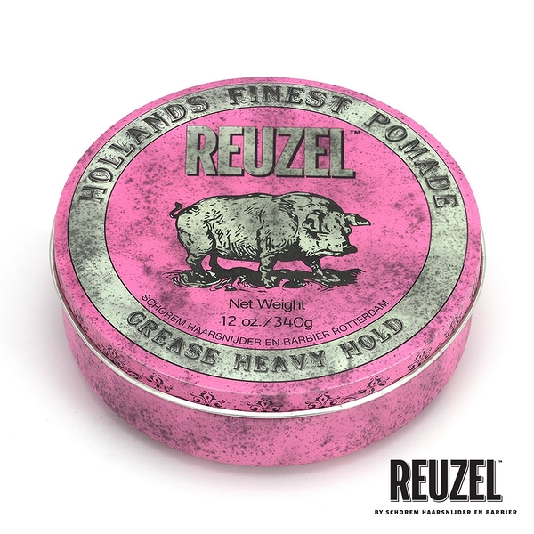 REUZEL Pink Pomade Grease 粉紅豬超強髮油 340g (原廠公司貨)【Emily 艾美麗】