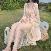 溫柔蕾絲魚尾吊帶仙女洋裝女春新款 薄款慵懶 夢想生活家