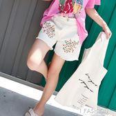 女童牛仔短褲韓版休閒褲新款女大童洋氣夏裝碎花熱褲兒童褲子-ifashion