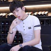 2018新款夏季男士短袖t恤韓版修身男式翻領polo衫男裝襯衫   八折免運 最後一天