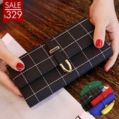 (黑色現貨)女士錢包女 正韓大容量多功能三折女式錢夾皮夾手拿包 六色可選 百貨週年慶