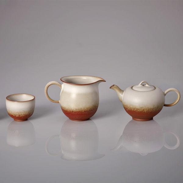 《乾唐軒活瓷》悅滿茶具組 / 油脂釉 / 陶 / 一壺+六杯+茶海