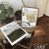 A BaO!韓國ins小姐姐同款原木化妝鏡便攜鏡子擺拍道具宿舍鏡子『小淇嚴選』