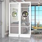 屏風 北歐現代簡約屏風隔斷進門客廳雙面隔斷間廳裝飾柜玄關客廳置物架【萬聖夜來臨】