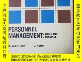 二手書博民逛書店罕見~PERSONNEL MANAGEMENT:CASES AND READINGSY205213