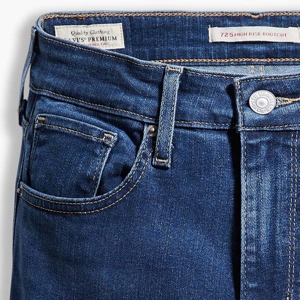 Levis 女款 725 高腰合身靴型牛仔褲 / 精工藍染水洗 / 彈性布料