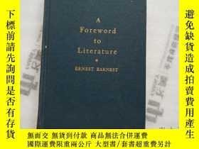 二手書博民逛書店A罕見Foreword to LiteratureY20903 出版1945