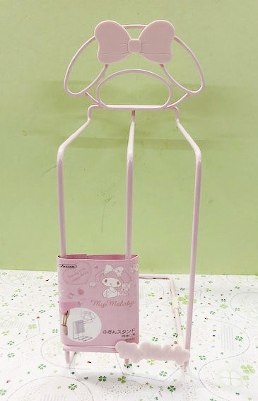 【震撼精品百貨】My Melody_美樂蒂~Sanrio 美樂蒂廚房用抹布架-粉#33137