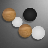 創意壁燈LED簡約創意圓形日食壁燈極簡臥室可組合工程壁燈 【4-4超級品牌日】