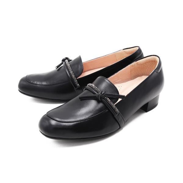 【南紡購物中心】W&M(女)方頭鑽帶莫卡辛鞋 樂福鞋 女鞋-黑(另有裸粉色)