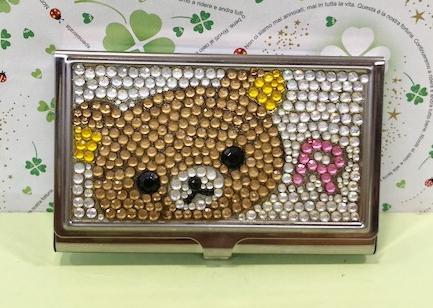 【震撼精品百貨】Rilakkuma San-X 拉拉熊懶懶熊~名片盒-晶鑽#51043